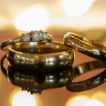Close up image of the wedding rings