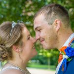 bride-and-groom-touching-noses-smiling