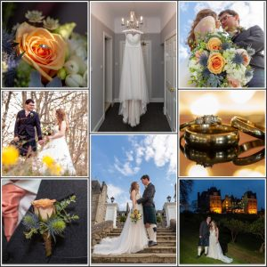 collage of wedding photographs from atholl palace hotel and spa pitlochry scotland