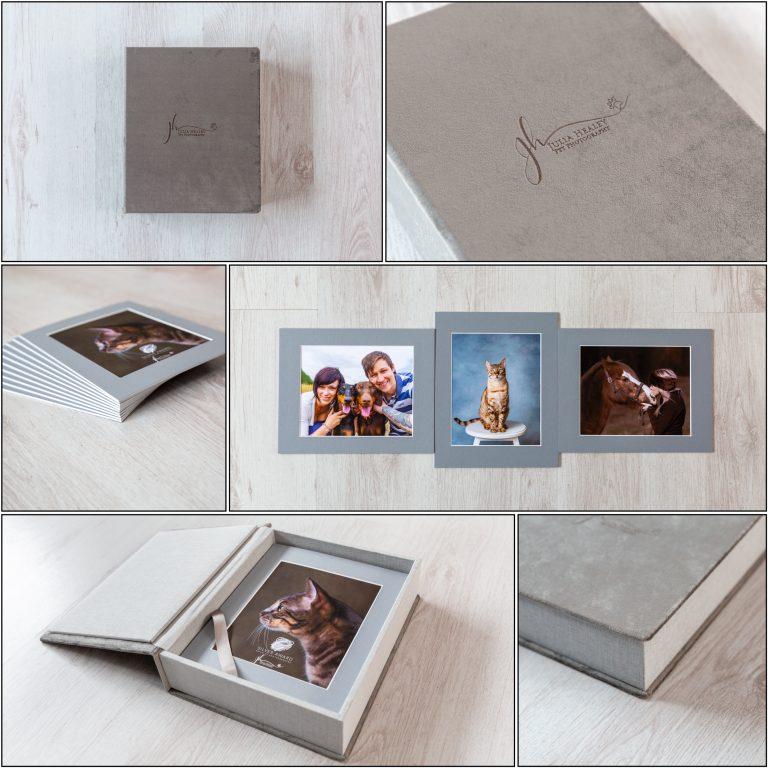 folio box of pet photography prints