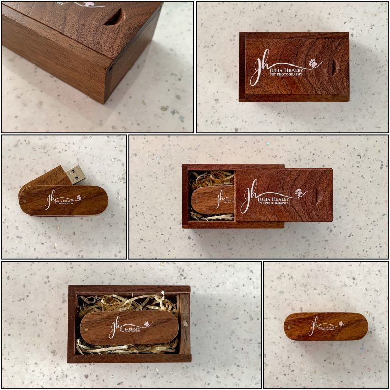 Wedding Photography Packages wooden usb with matching wooden box