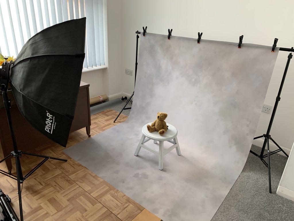 pet pawtrait photoshoot studio set up