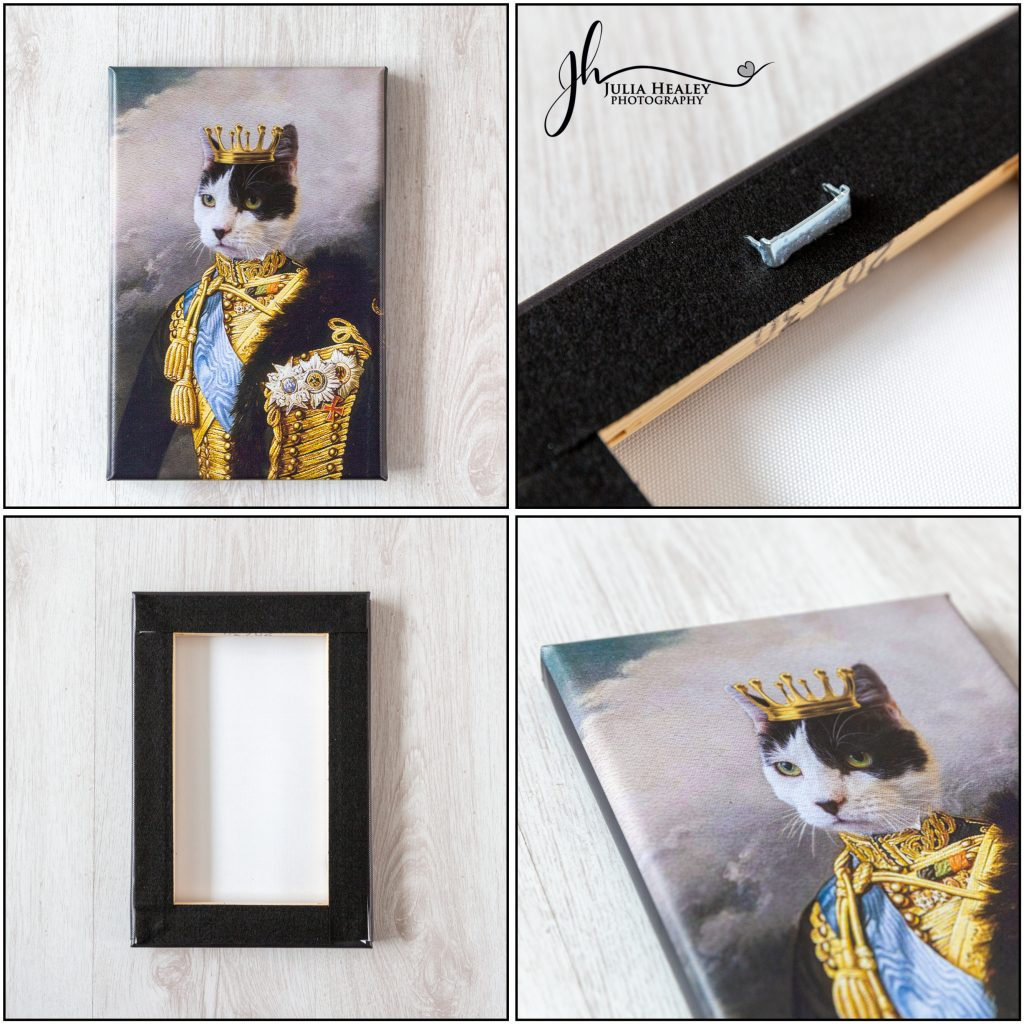 whiskers and pawpers canvas using customers image