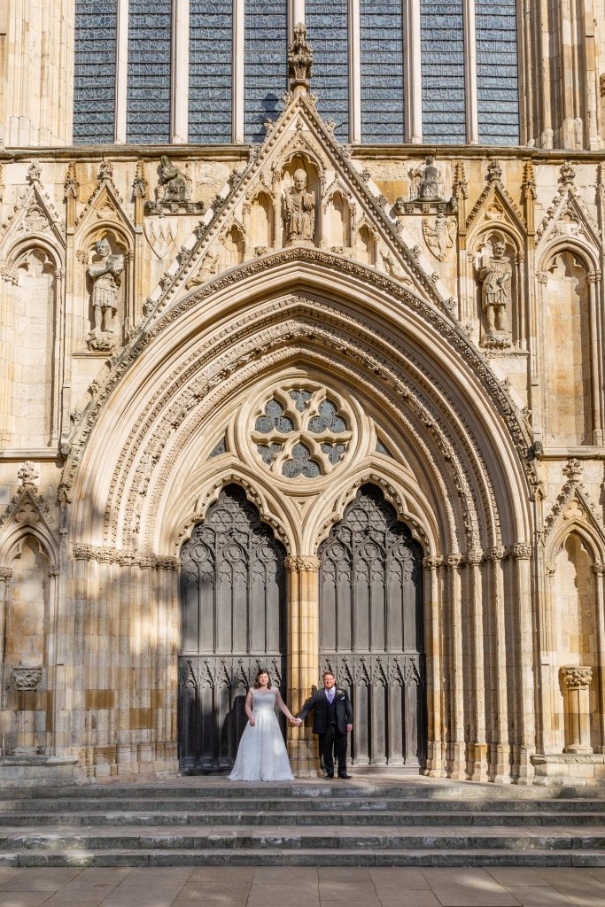 york city centre minster wedding photography