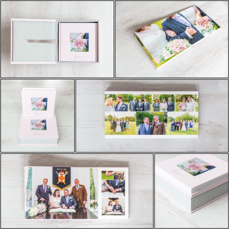wedding album sample collage