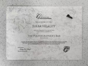 certificate for the guild of photographers photographers bar award